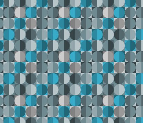 Blue Sequins fabric by thirdhalfstudios on Spoonflower - custom fabric