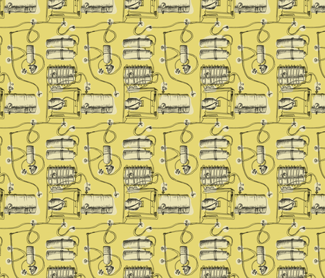 Brewing (gold) fabric by phillip_markel on Spoonflower - custom fabric