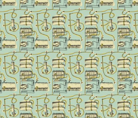 Brewing (mint) fabric by phillip_markel on Spoonflower - custom fabric