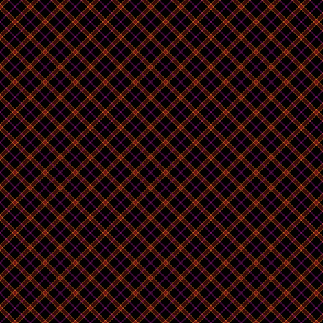 Black Based Tartan fabric by tieflingknight on Spoonflower - custom fabric