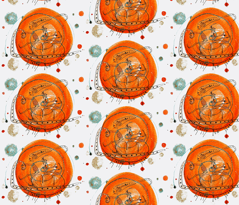 happy new year fabric by avva on Spoonflower - custom fabric