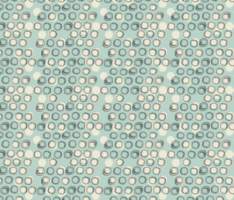 Bottle Caps (blue) fabric by phillip_markel on Spoonflower - custom fabric