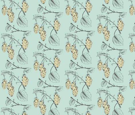 Hops (mint) fabric by phillip_markel on Spoonflower - custom fabric