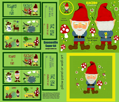 Gnomeville Super kit  fabric by paragonstudios on Spoonflower - custom fabric