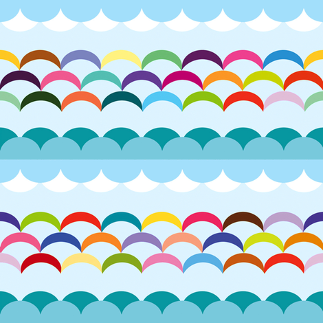 Between Sky and sea fabric by wantit on Spoonflower - custom fabric