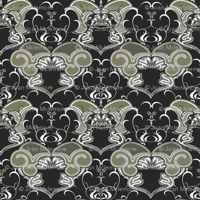 Victorian Damask Blossoms coordinate