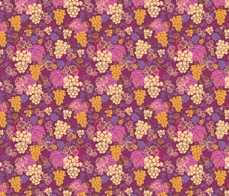 Juicy Grape Vines fabric by oksancia on Spoonflower - custom fabric