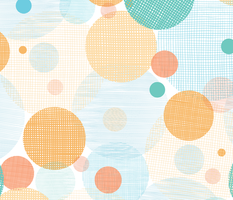 Colorful Fabric Circles fabric by oksancia on Spoonflower - custom fabric