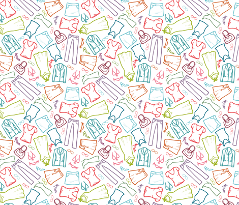 My Wardrobe Clothes fabric by oksancia on Spoonflower - custom fabric