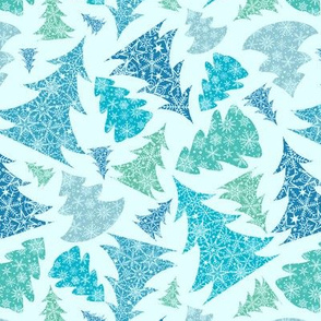 Winter Holiday Christmass Trees