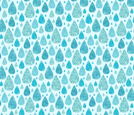 Spring Rain Drops fabric by oksancia on Spoonflower - custom fabric