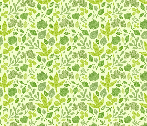 Detailed Leaves fabric by oksancia on Spoonflower - custom fabric