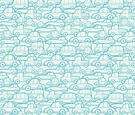 Doodle Cars fabric by oksancia on Spoonflower - custom fabric