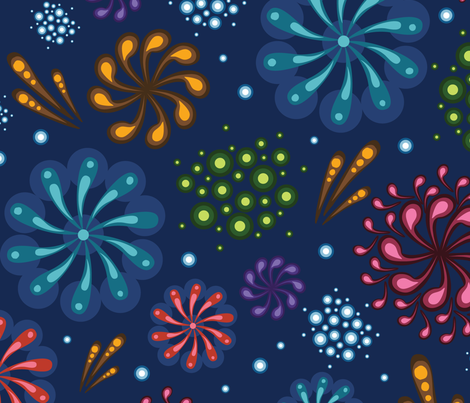 Fireworks fabric by oksancia on Spoonflower - custom fabric
