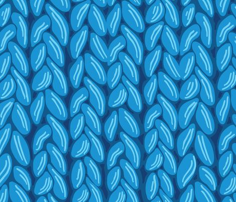 Custom Knit Fabric : Chunky Blue Knit fabric - oksancia - Spoonflower