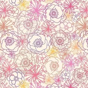 Field Flowers Lineart