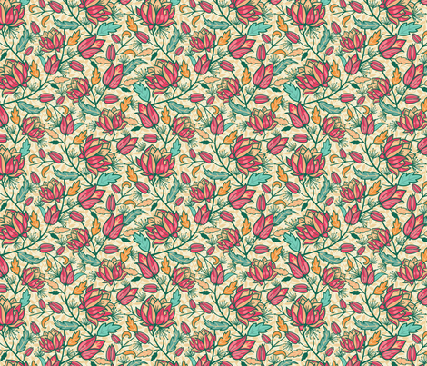 Flower Dream fabric by oksancia on Spoonflower - custom fabric