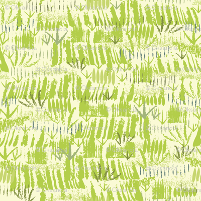 Green Grass - Paint Textured