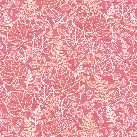 Pink Leaves fabric by oksancia on Spoonflower - custom fabric
