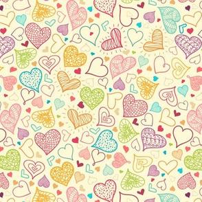 Line Art Hearts