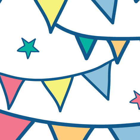 Colorful Party Bunting fabric by oksancia on Spoonflower - custom fabric