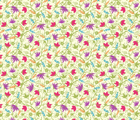 Spring Blossoms fabric by oksancia on Spoonflower - custom fabric