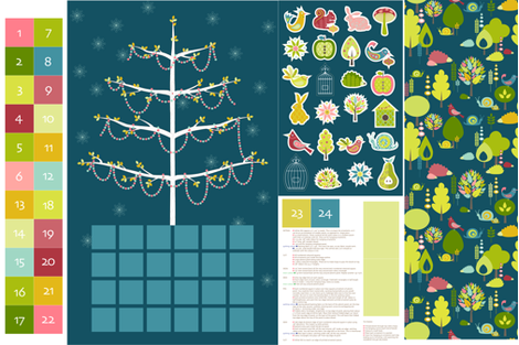 Festive Forest Tree Decorating - Advent Calendar