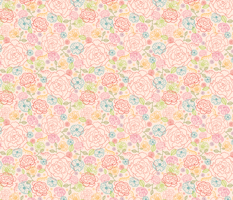 Subtle Bouquet fabric by oksancia on Spoonflower - custom fabric