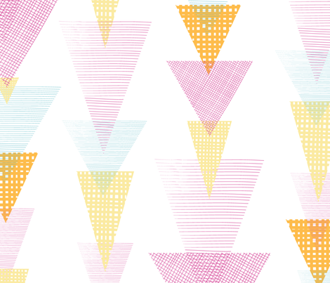 Fun textured triangles arrows fabric by oksancia on Spoonflower - custom fabric