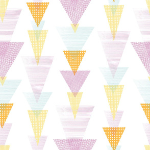 Fun textured triangles arrows