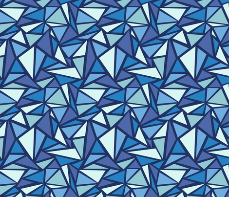 Blue Triangles fabric by oksancia on Spoonflower - custom fabric