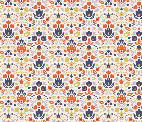 Abstract Tulips fabric by oksancia on Spoonflower - custom fabric