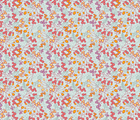 Winter Berries fabric by oksancia on Spoonflower - custom fabric