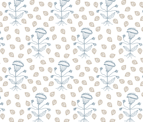 Jaipur in denim/khaki fabric by domesticate on Spoonflower - custom fabric