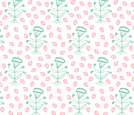 Jaipur in green/red fabric by domesticate on Spoonflower - custom fabric
