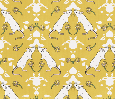 mouse damask fabric by youngcaptive on Spoonflower - custom fabric