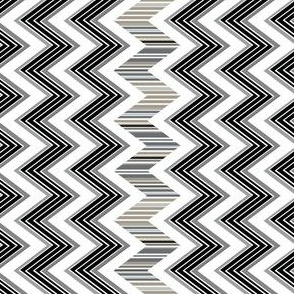 Stripes Black and White Chevron
