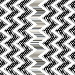 Stripes Black and White Chevron
