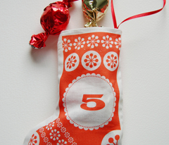 Hanging Stockings Advent Calendar - Cut and Sew Pattern