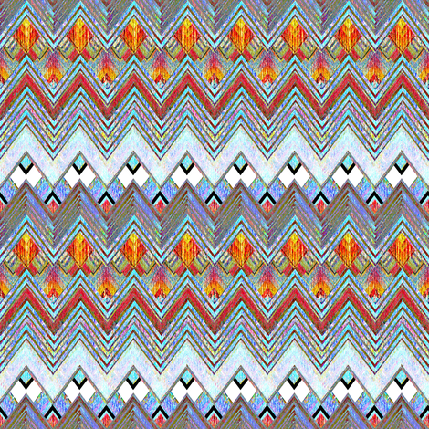 Zig Zag Flame Diamonds fabric by joanmclemore on Spoonflower - custom fabric