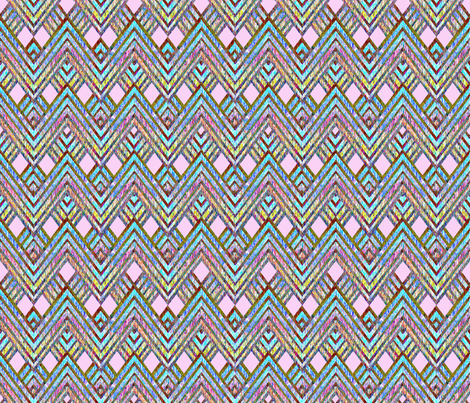 Zig Zag pink fabric by joanmclemore on Spoonflower - custom fabric