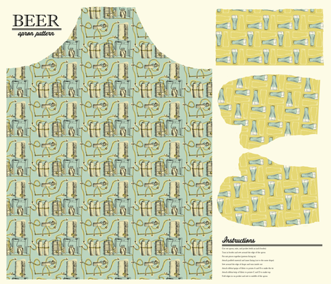 Beer Apron Pattern fabric by phillip_markel on Spoonflower - custom fabric