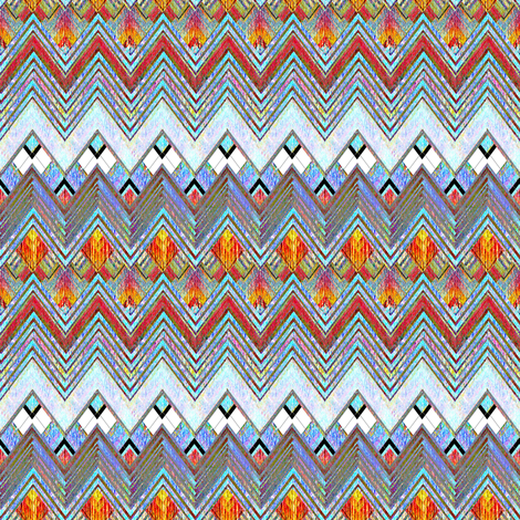Zig Zag Brite  fabric by joanmclemore on Spoonflower - custom fabric