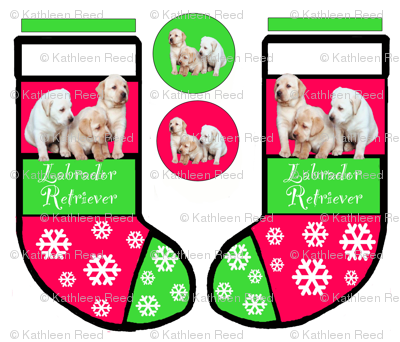 LABRADOR_RETRIEVER_puppy_CHRISTMAS_STOCKING