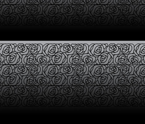 Black Rose on Gray and Black Gradient fabric by laurijon on Spoonflower - custom fabric