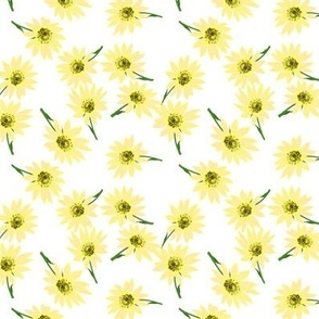 Retro Yellow Sunflower Sprinkly