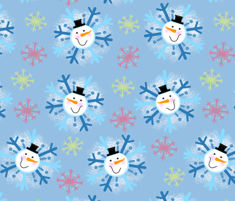 snowmanflake fabric by jenkdesigns on Spoonflower - custom fabric