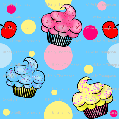 Little CupCakes- Blue