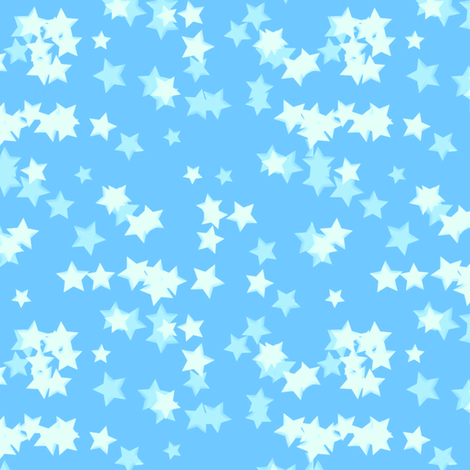 Baby Blue Sparkles fabric by mystikel on Spoonflower - custom fabric