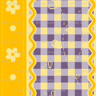 Yellow & Purple Contrast Gingham